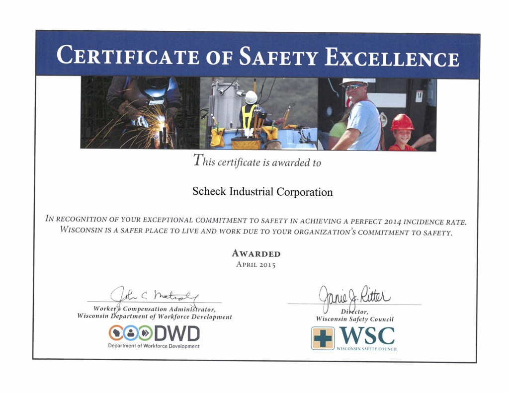 Wisconsin Safety Award SIC