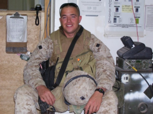 Marty Corr served in the Marine Corps on active duty in Al Asad, Iraq